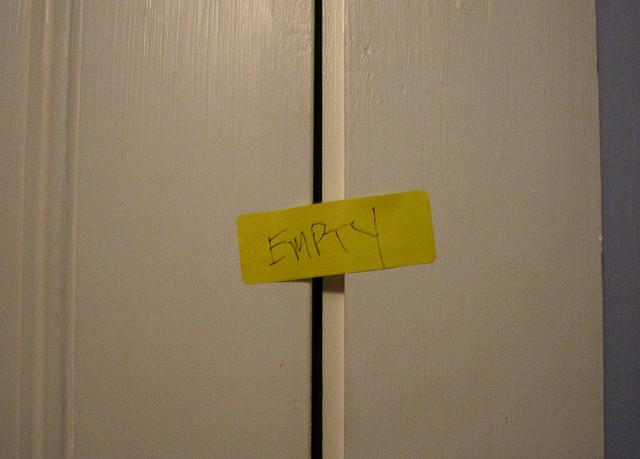 cupboard empty