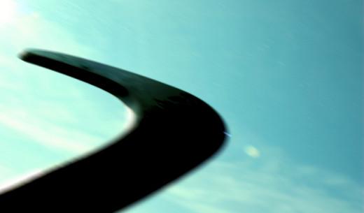 Mahima H. Boomerang!. Flickr CC.