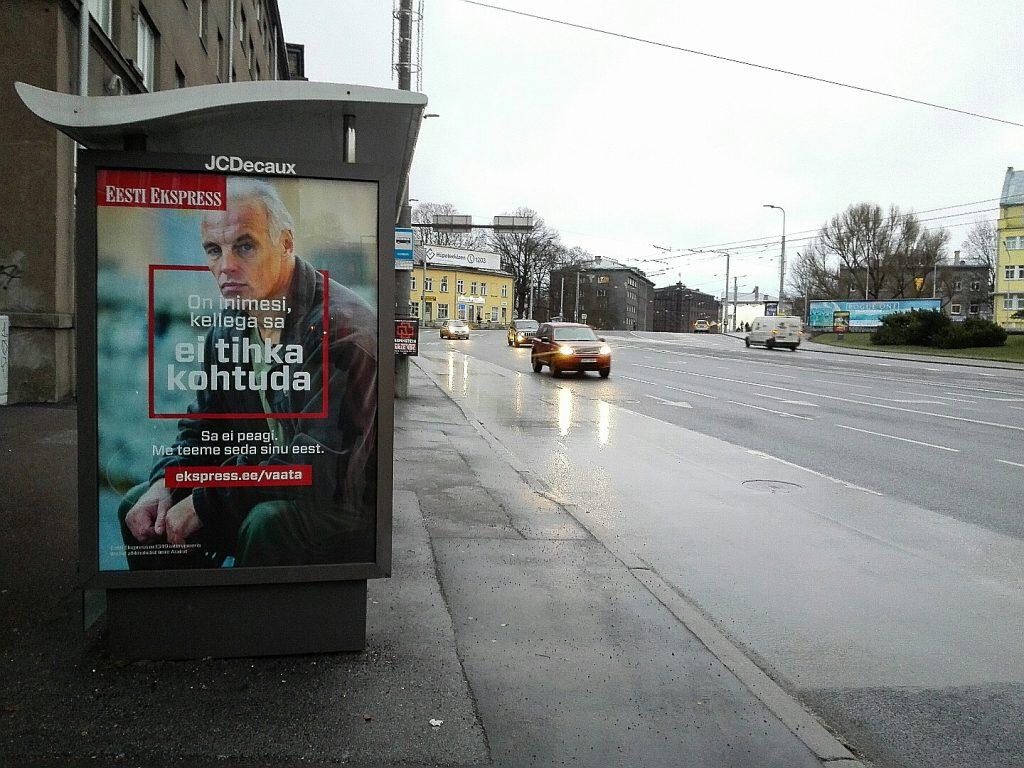 Äge mees porises Tallinnas